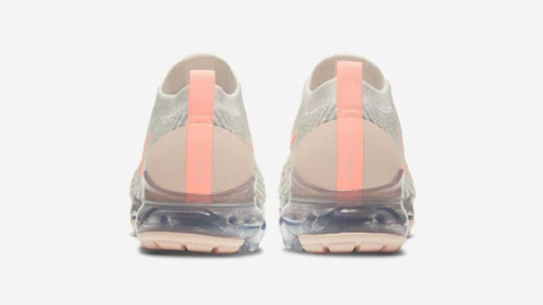 Nike Air VaporMax Flyknit 3 Cream Crimson Tint Back thumbnail image