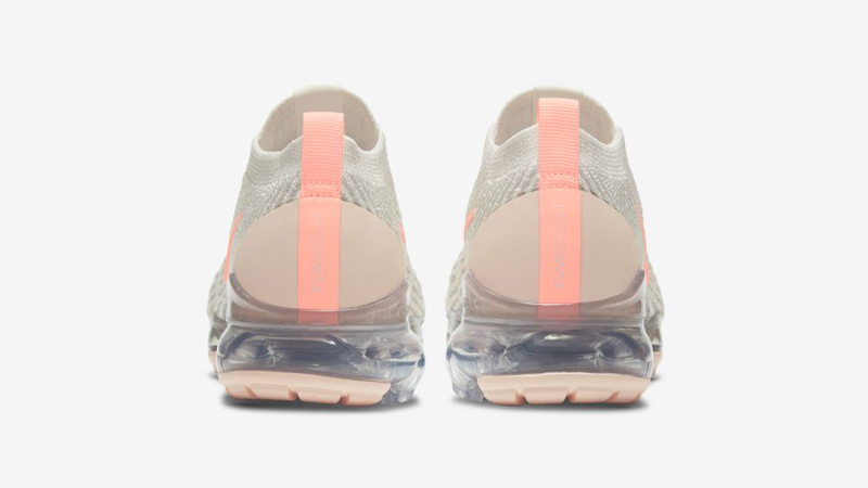 Nike Air VaporMax Flyknit 3 Cream Crimson Tint Back