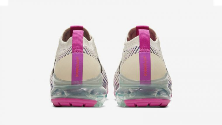 Nike Air VaporMax Flyknit 3 Fossil Fire Pink Back thumbnail image