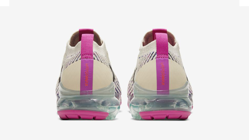 Nike Air VaporMax Flyknit 3 Fossil Fire Pink Back