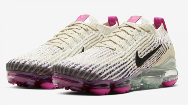 Nike Air VaporMax Flyknit 3 Fossil Fire Pink Front thumbnail image