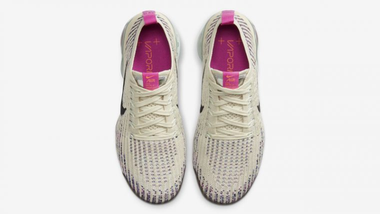 Nike Air VaporMax Flyknit 3 Fossil Fire Pink Middle thumbnail image