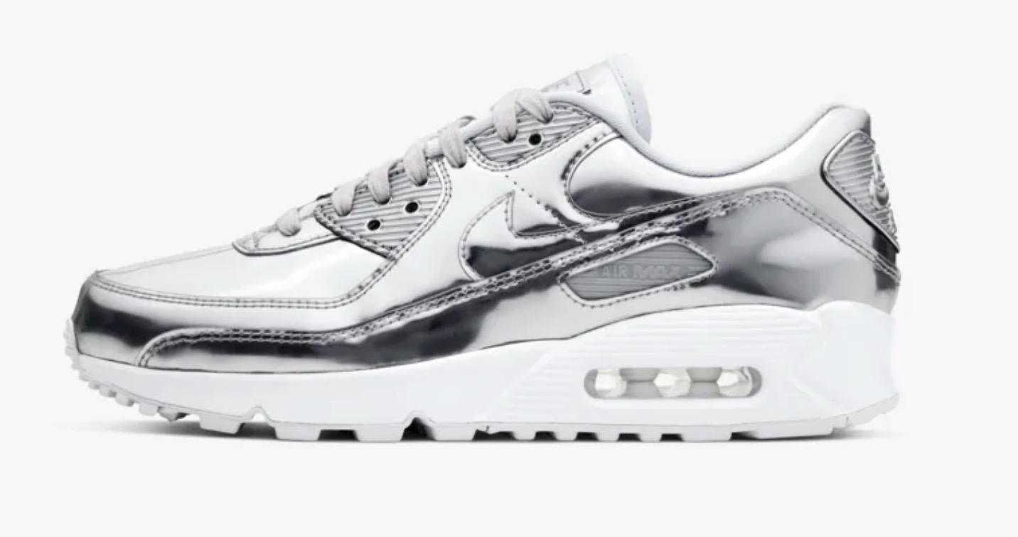 Nike Air max 90 kids metallic pack silver chrome