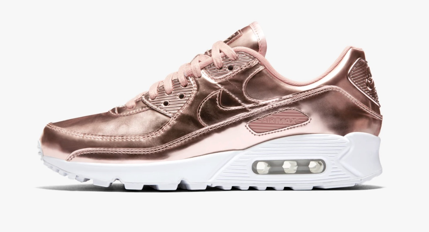 Nike Air max 90 Metallic Pack Rose Gold Side
