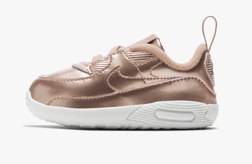 Nike Air max 90 kids metallic pack rose gold