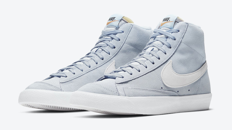 Nike Blazer Mid 77 Suede Blue White Front