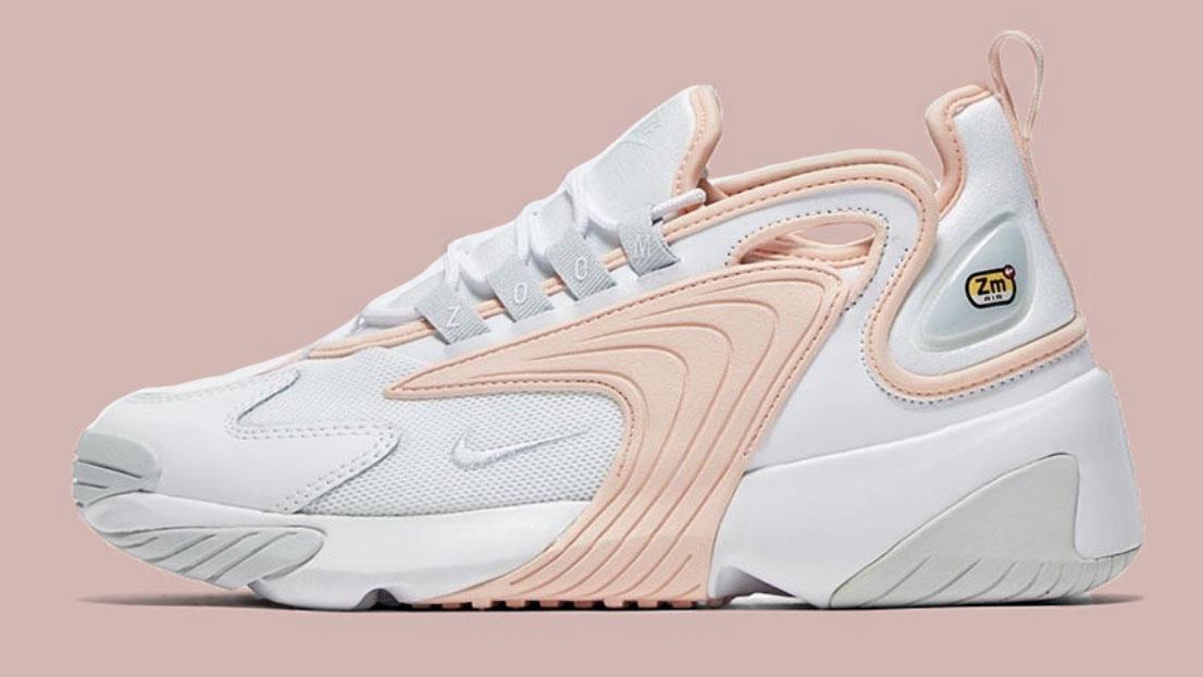 womens white & pink nike zoom 2k