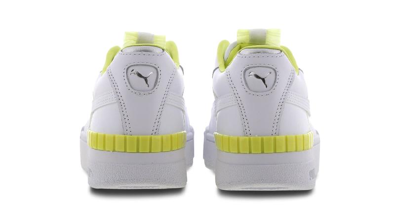 PUMA Cali Sport White Sunny Lime Back