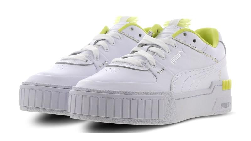 PUMA Cali Sport White Sunny Lime Front