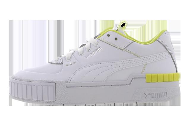 PUMA Cali Sport White Sunny Lime