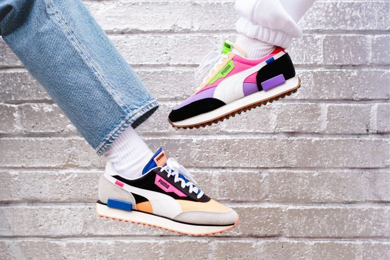 PUMA Future Rider Play On Orange Pink sneakers
