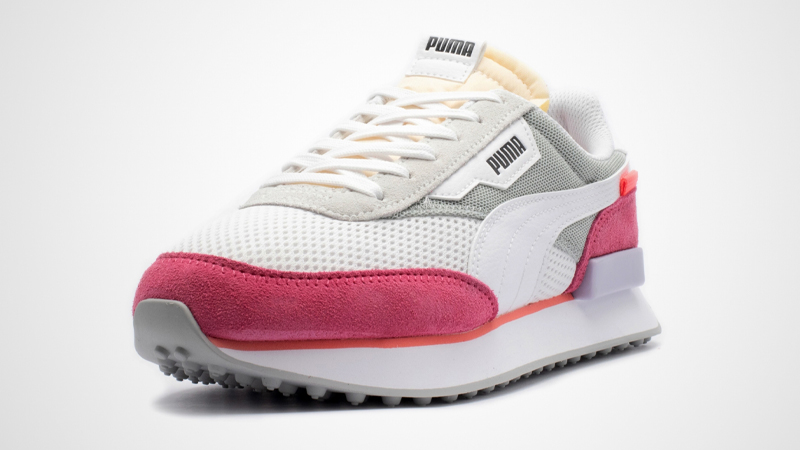 Puma Future Rider Stream On White Pink Front