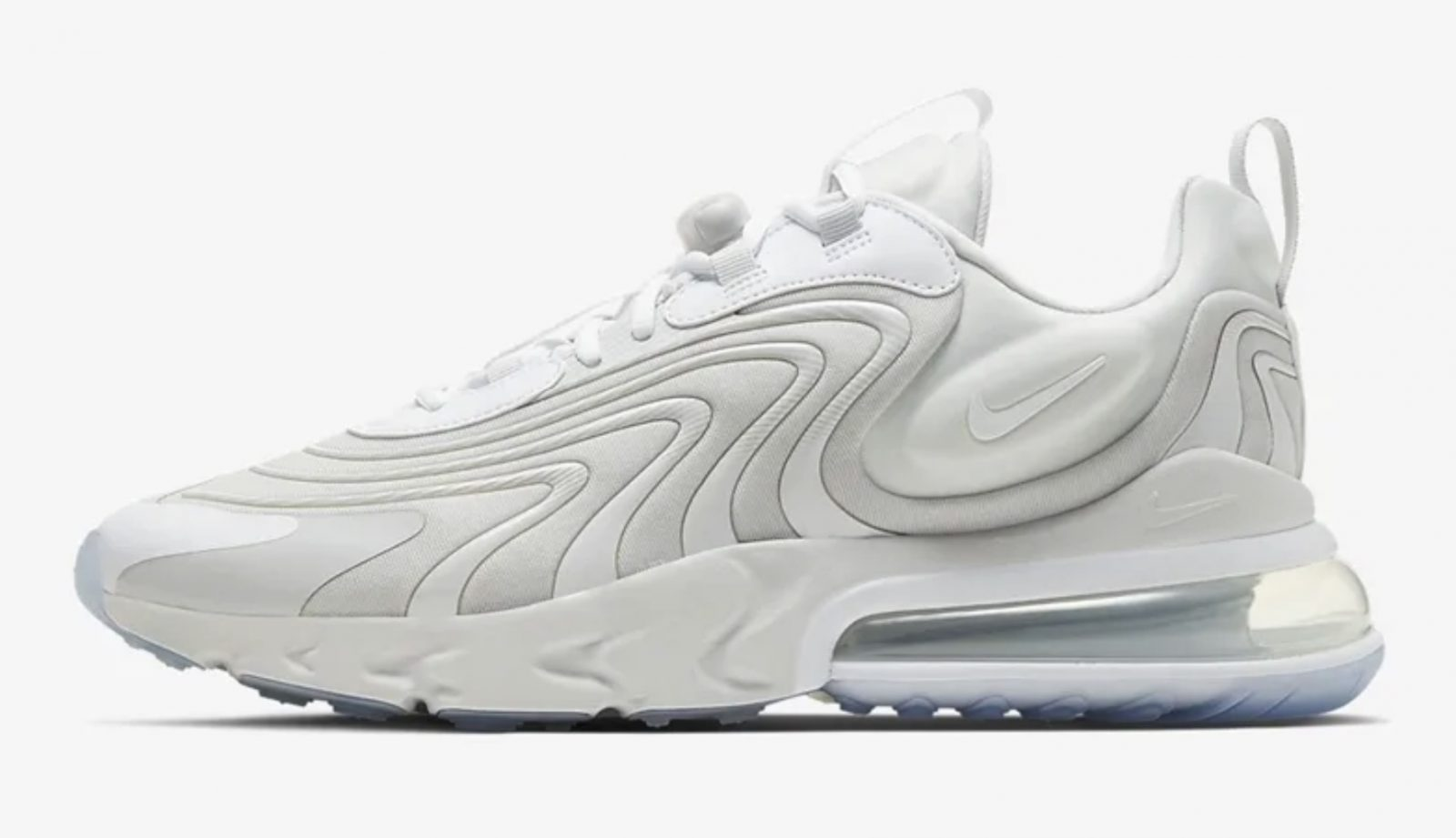 The Nike Air Max 270 React Eng Has Just Surfaced In A Triple White Palette Upcoming Sneaker Releases The Sole Womens