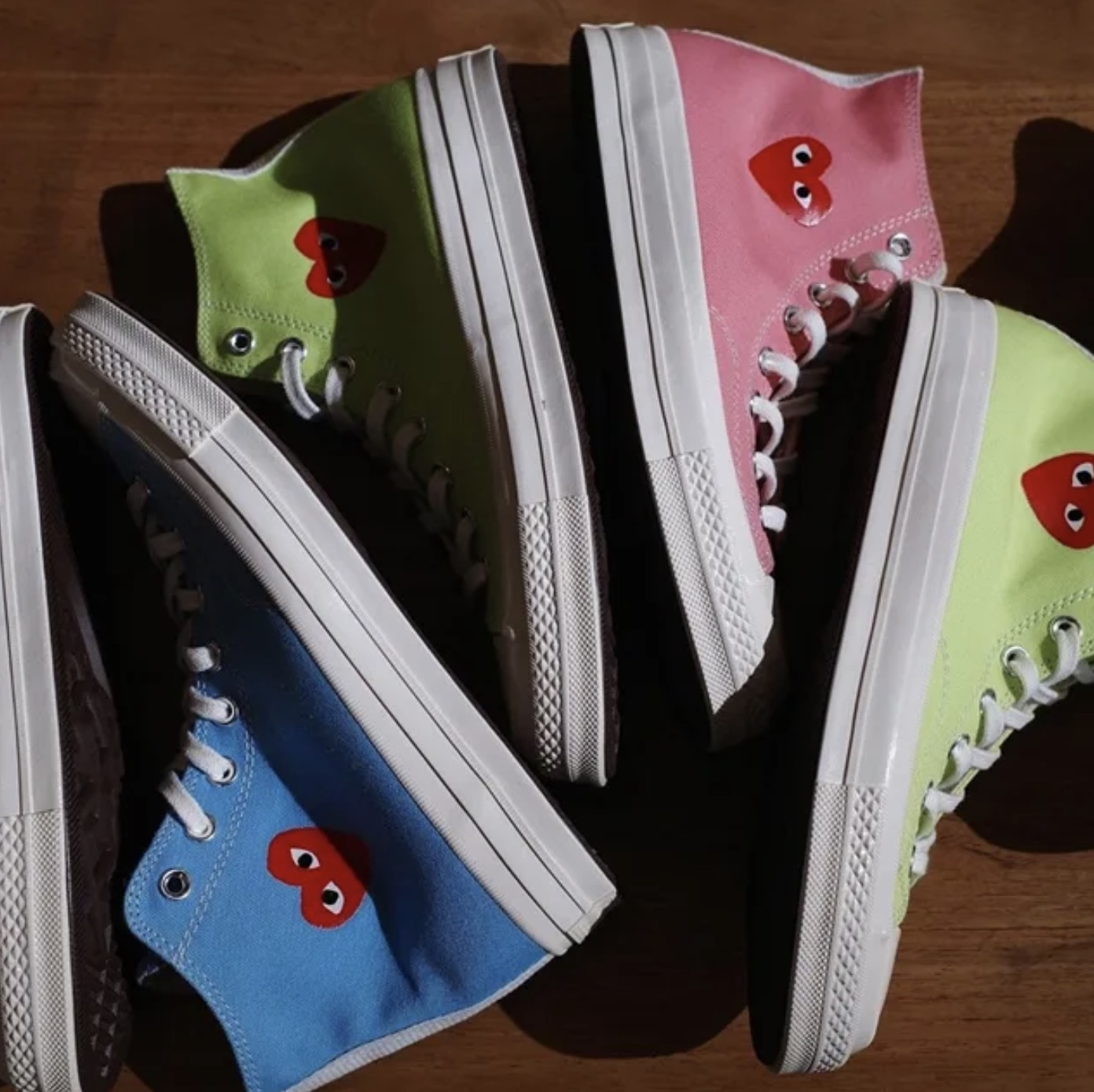 Three New Comme des Garcons Play x Converse Chuck Taylors Have Just Been Unveiled 10 colourways