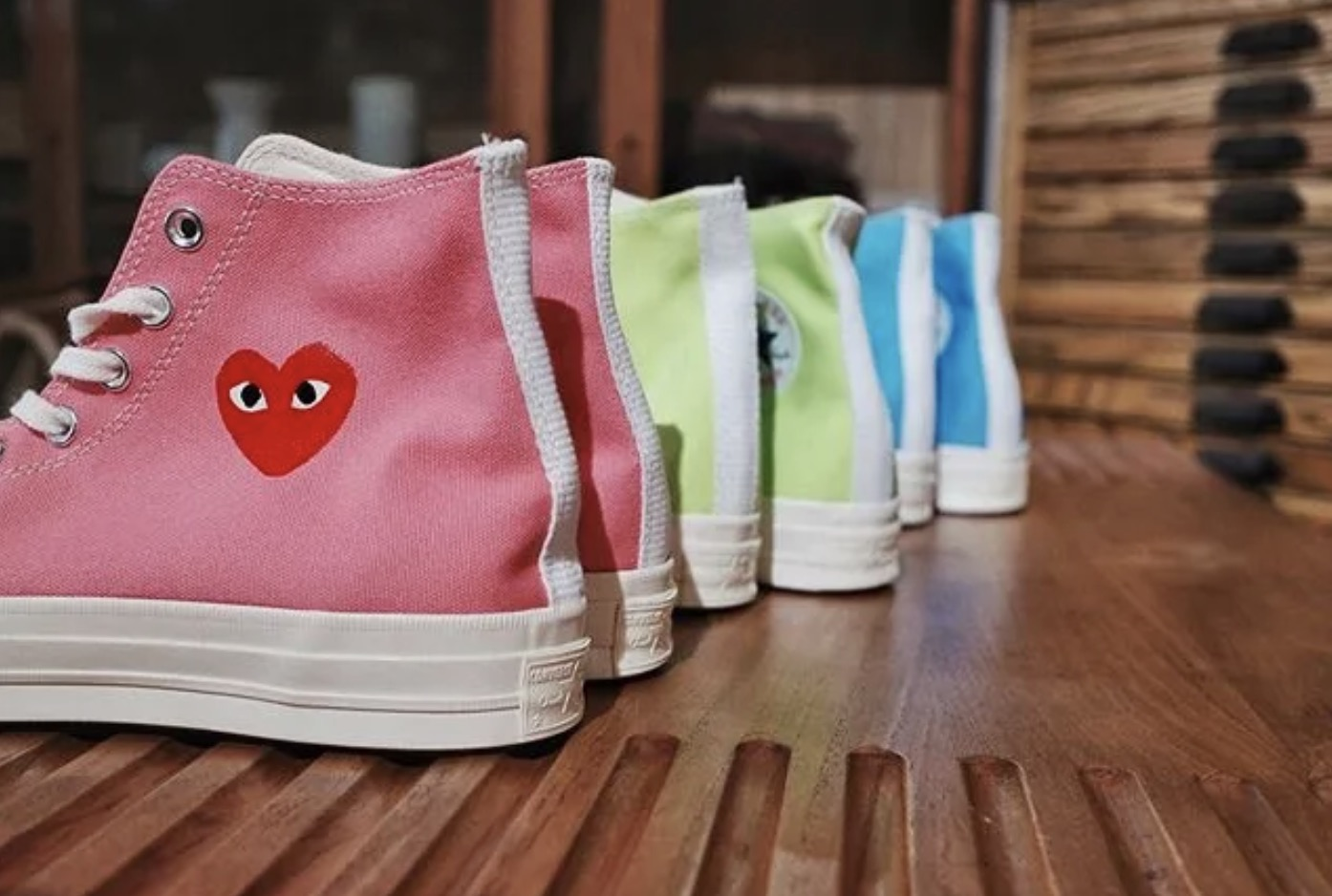 Three New Comme des Garcons Play x Converse Chuck Taylors Have Just Been Unveiled 10 heels