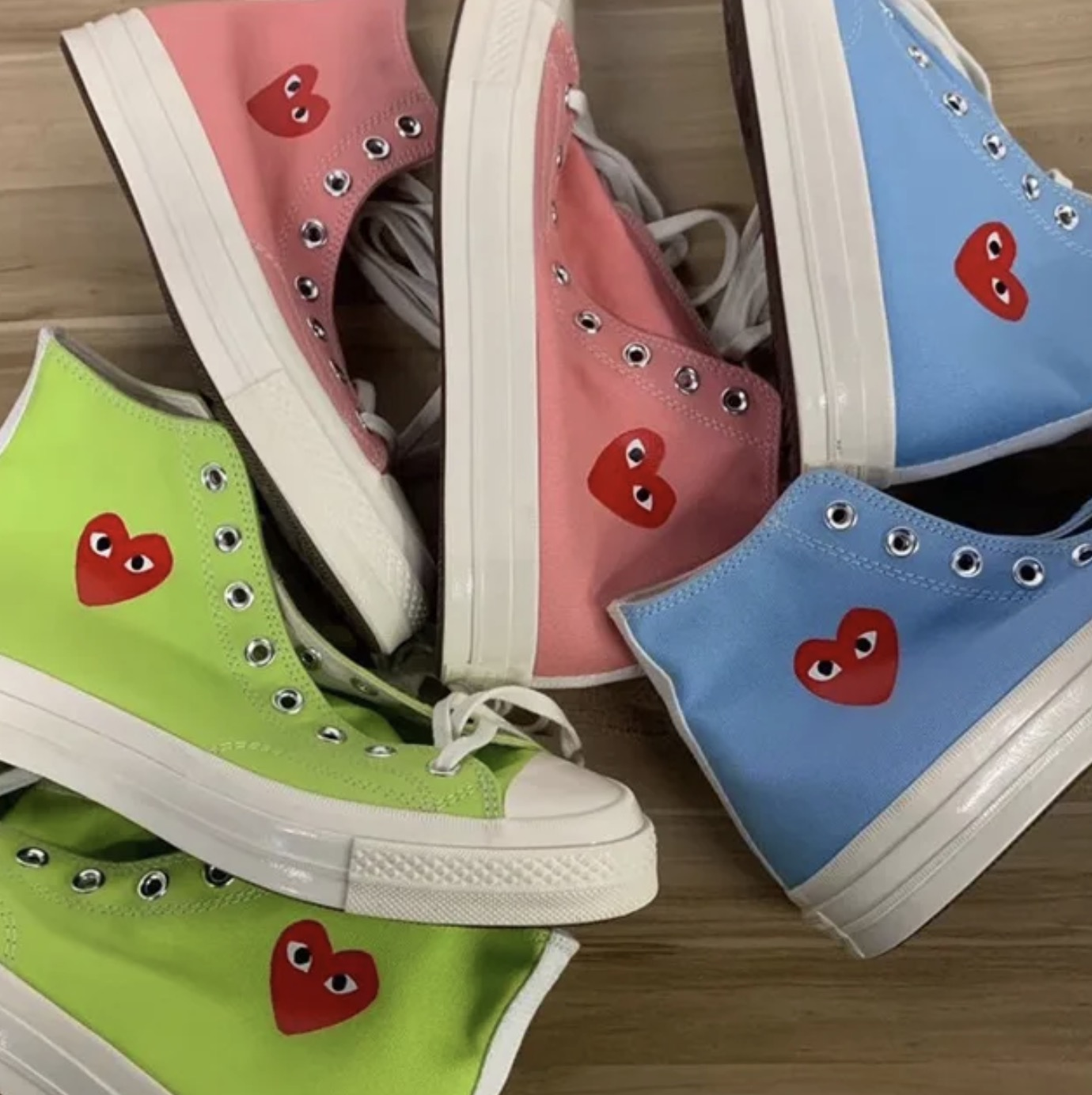 Three New Comme des Garcons Play x Converse Chuck Taylors Have Just Been Unveiled 10 sidewalls