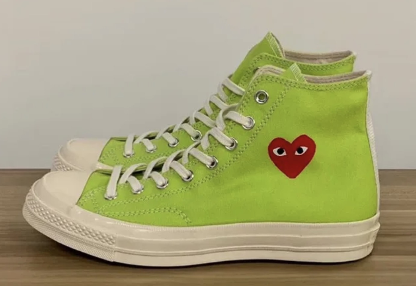 Three New Comme des Garcons Play x Converse Chuck Taylors Have Just Been Unveiled 10 green