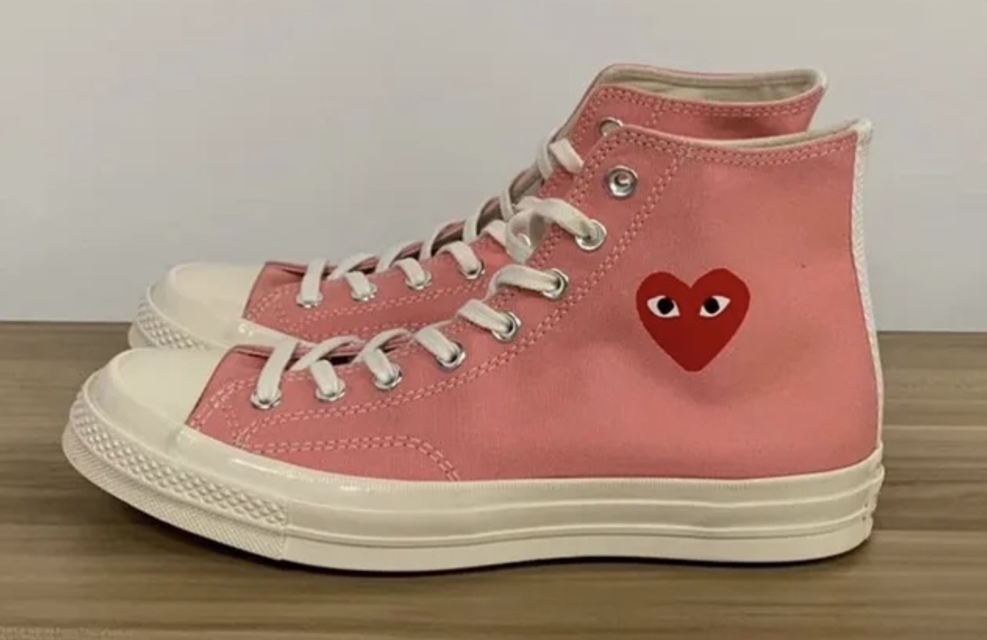 Three New Comme des Garcons Play x Converse Chuck Taylors Have Just Been Unveiled 10 pink