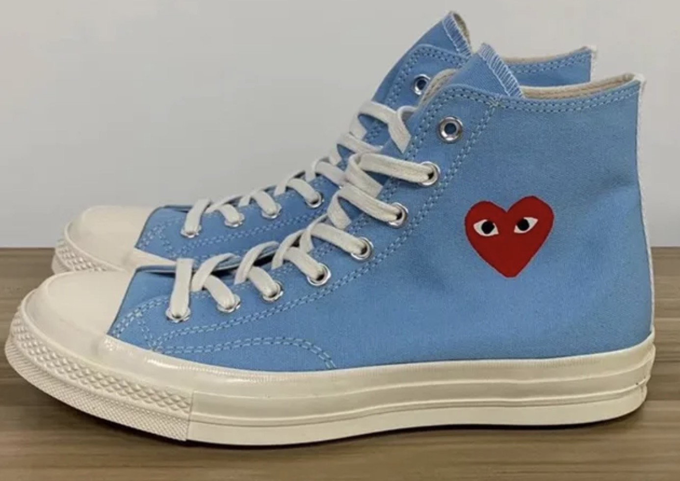 Three New Comme des Garcons Play x Converse Chuck Taylors Have Just Been Unveiled 10 blue
