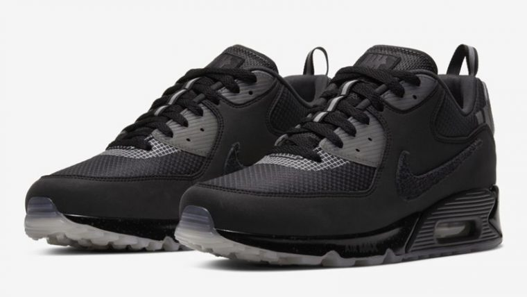UNDEFEATED x Nike Air Max 90 Black Front thumbnail image