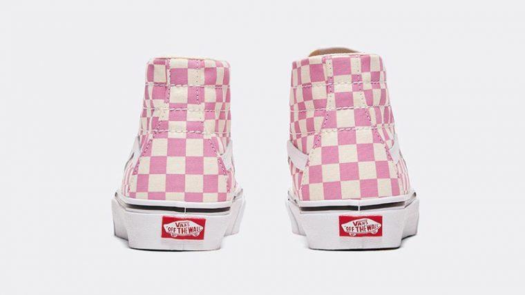 Vans Checkerboard Sk8-Hi Tapered Pink Back thumbnail image