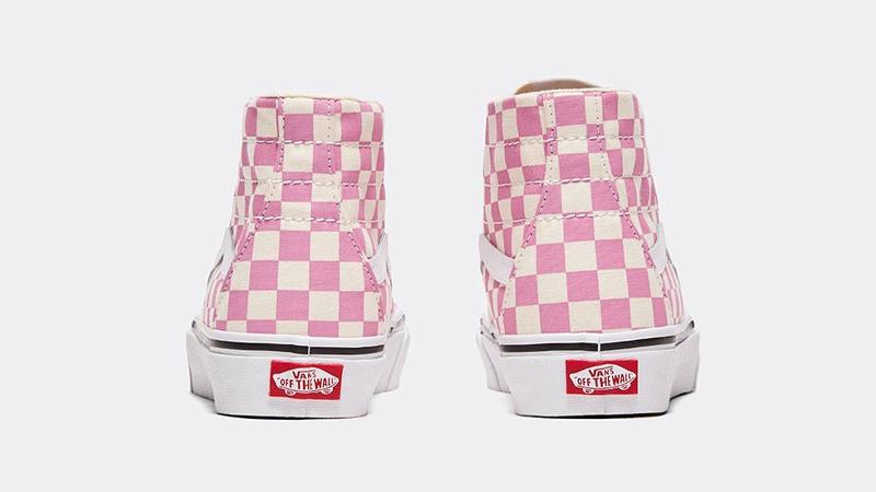 Vans Checkerboard Sk8-Hi Tapered Pink Back