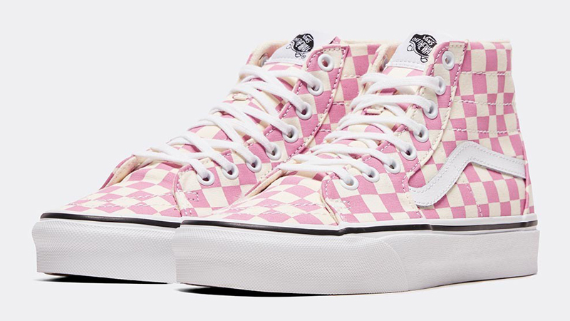 Vans Checkerboard Sk8-Hi Tapered Pink Front