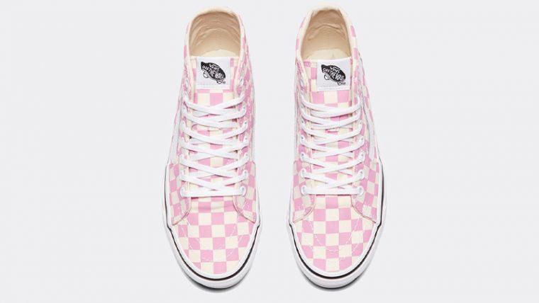 Vans Checkerboard Sk8-Hi Tapered Pink Middle thumbnail image