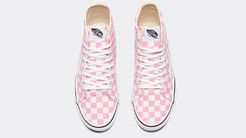 Vans Checkerboard Sk8-Hi Tapered Pink Middle