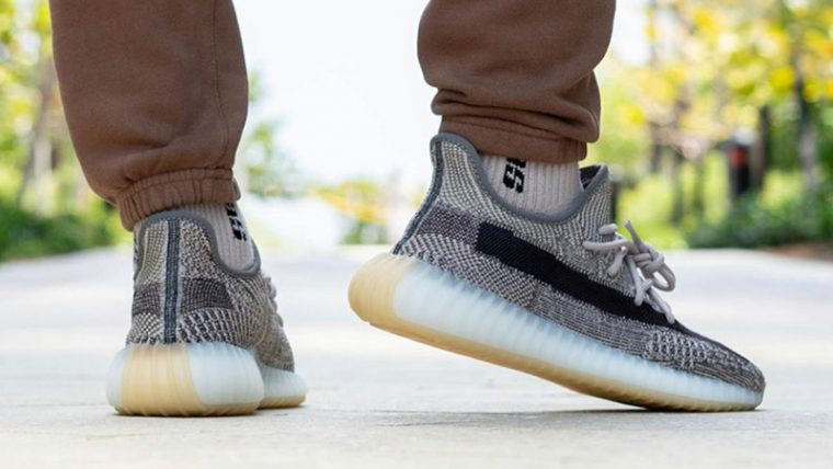 Yeezy Boost 350 V2 Zyon On Foot Back 1 thumbnail image