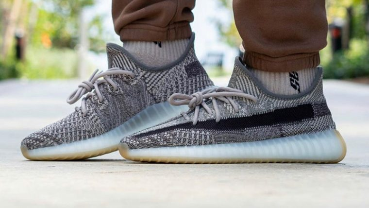 Yeezy Boost 350 V2 Zyon On Foot Side thumbnail image