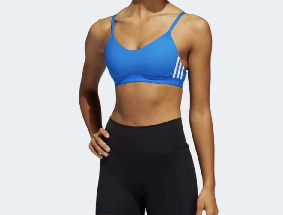 adidas 3-Stripes Sports Bra Blue White