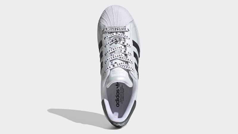 adidas Superstar Cloud White Gold Metallic Middle
