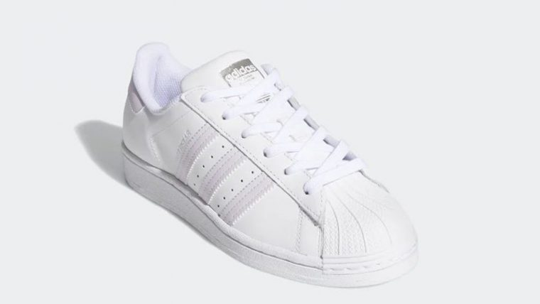 adidas Superstar White Purple FV3374 front thumbnail image