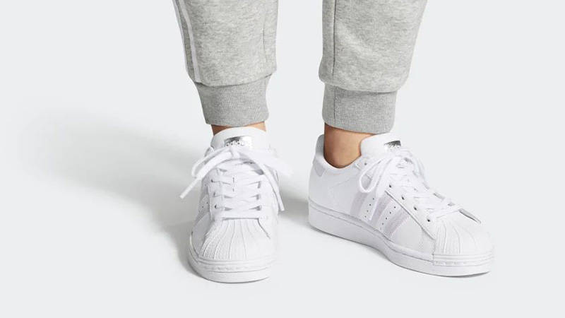 adidas Superstar White Purple FV3374 on foot