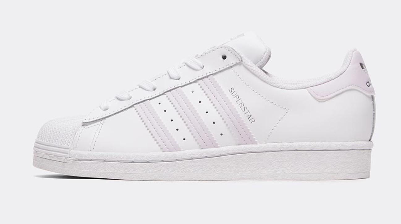 adidas Superstar White Purple Tint