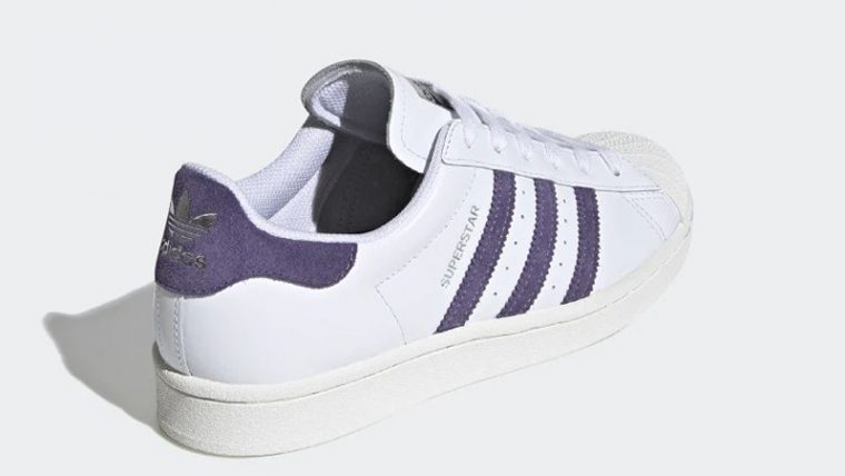 adidas Superstar White Tech Purple FV3373 back thumbnail image