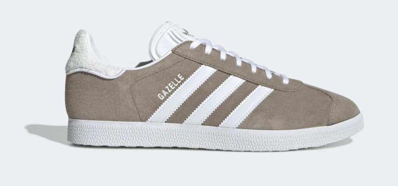 adidas gazelle white brown