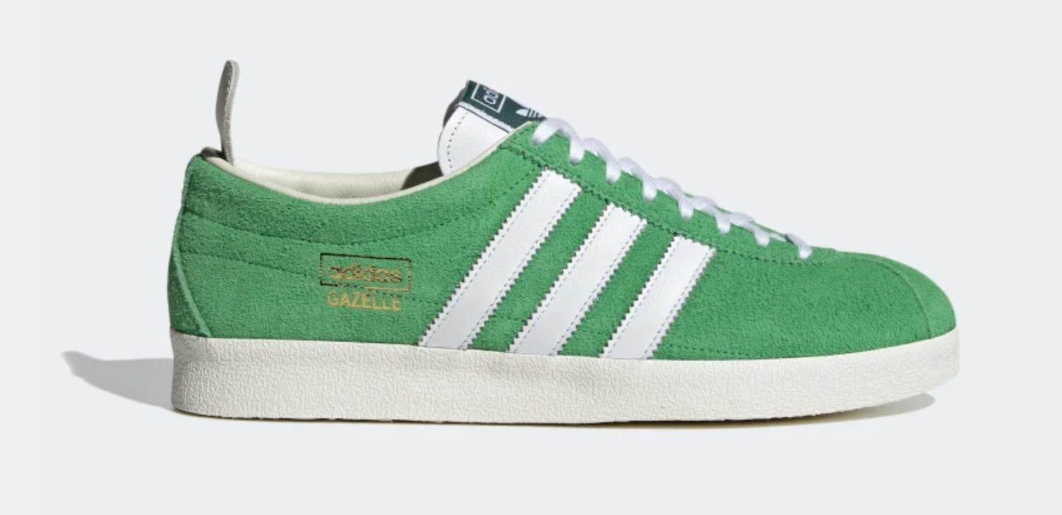 adidas gazelle white green