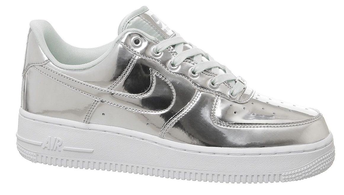 air force 1 silver chrome