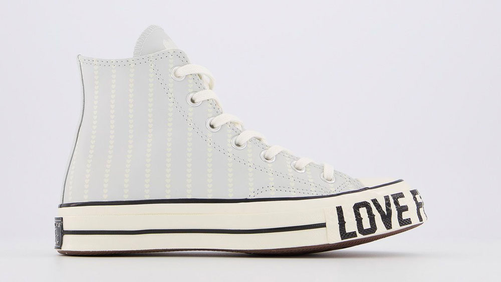 Converse Love Fearlessly Heart Blue