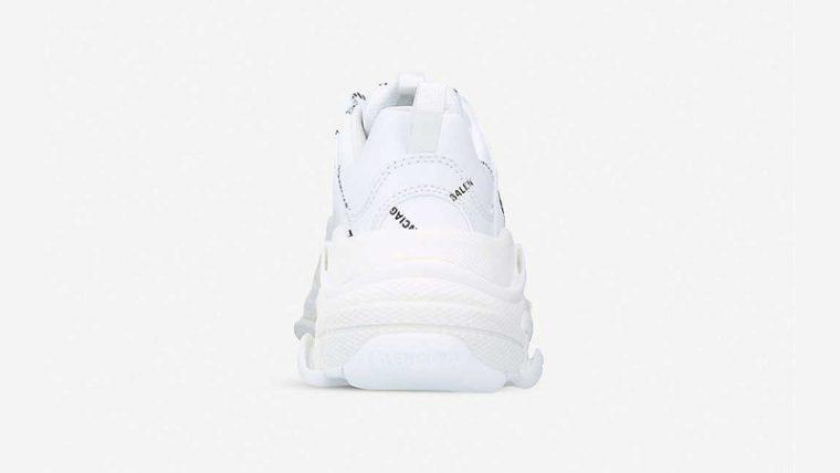 Balenciaga Triple S Logo-print White Black Back thumbnail image