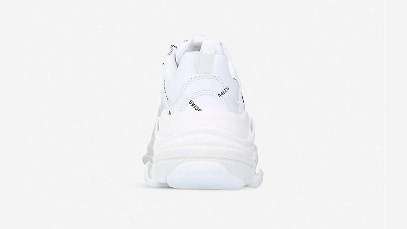 Balenciaga Triple S Logo-print White Black Back