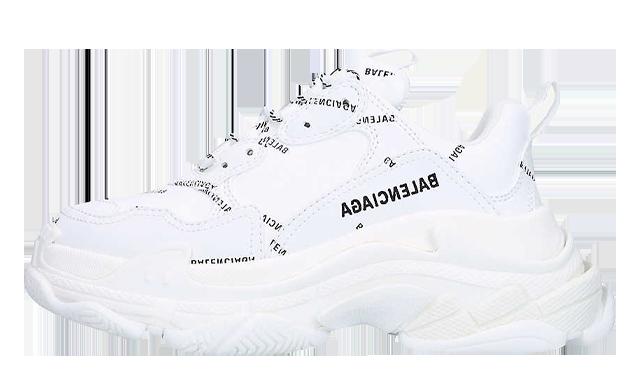 Balenciaga Triple S Logo-print White Black