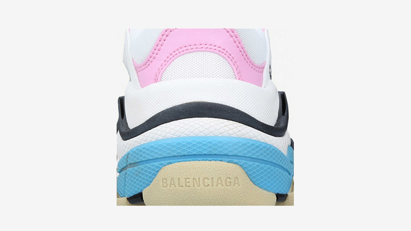 Balenciaga Triple S White Pink Back