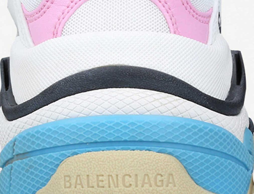 Balenciaga Triple S White Pink heel