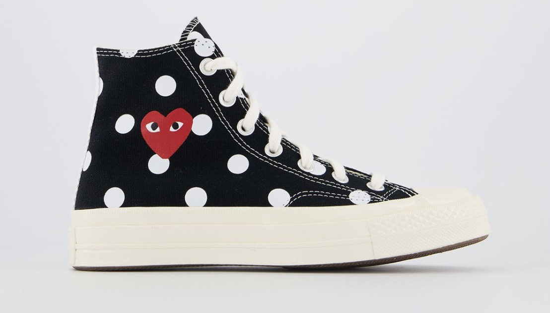 Comme Des GarconsX Play Cdg Trainers Polka Black