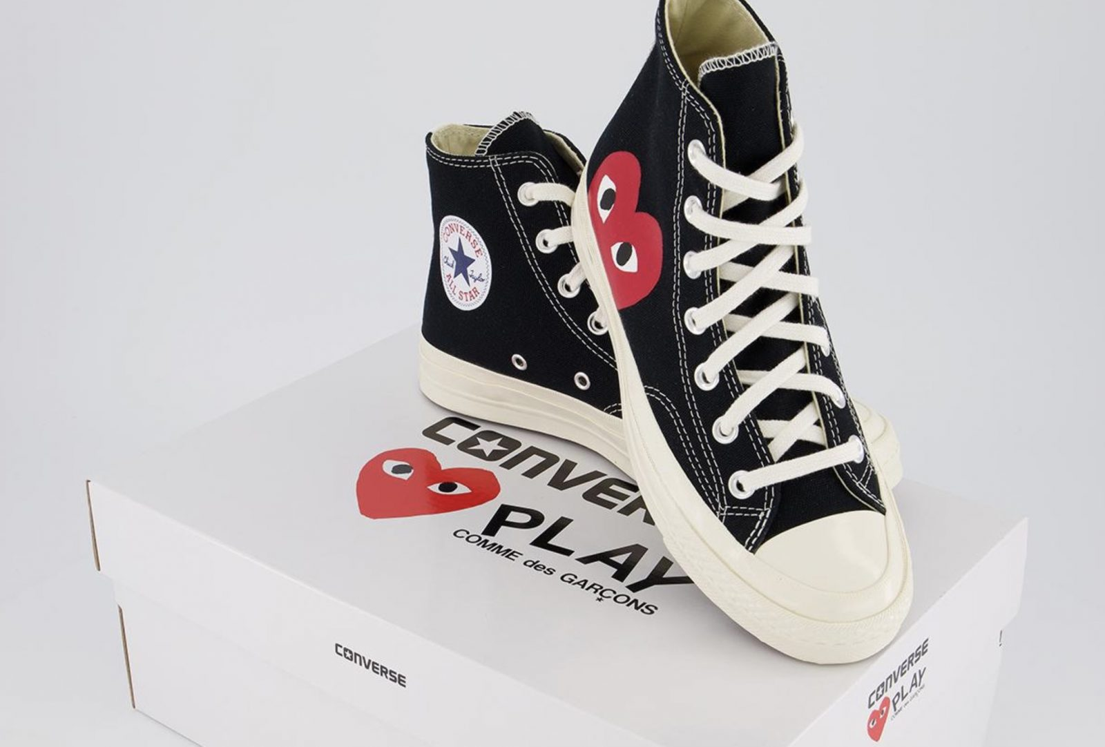 Comme des Garcons Play x Converse All Star Chuck Taylor Heart Black