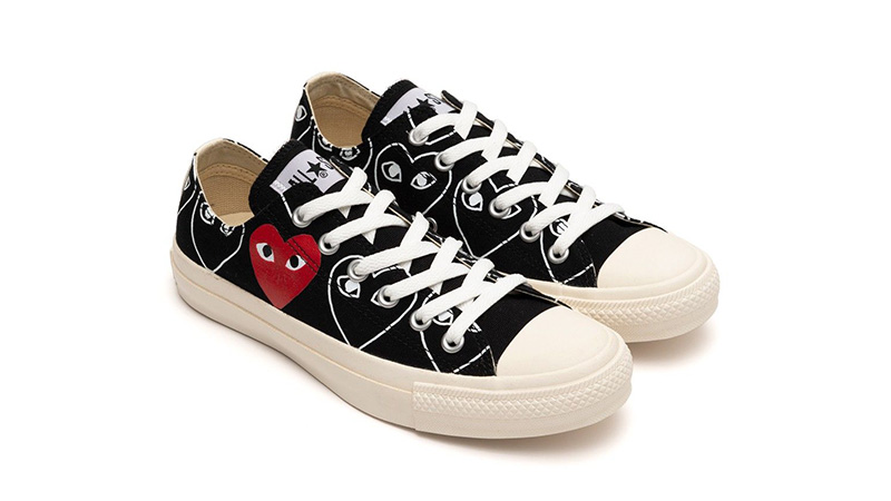 Comme des Garcons Play x Converse Chuck 70 Low Black Sail Front