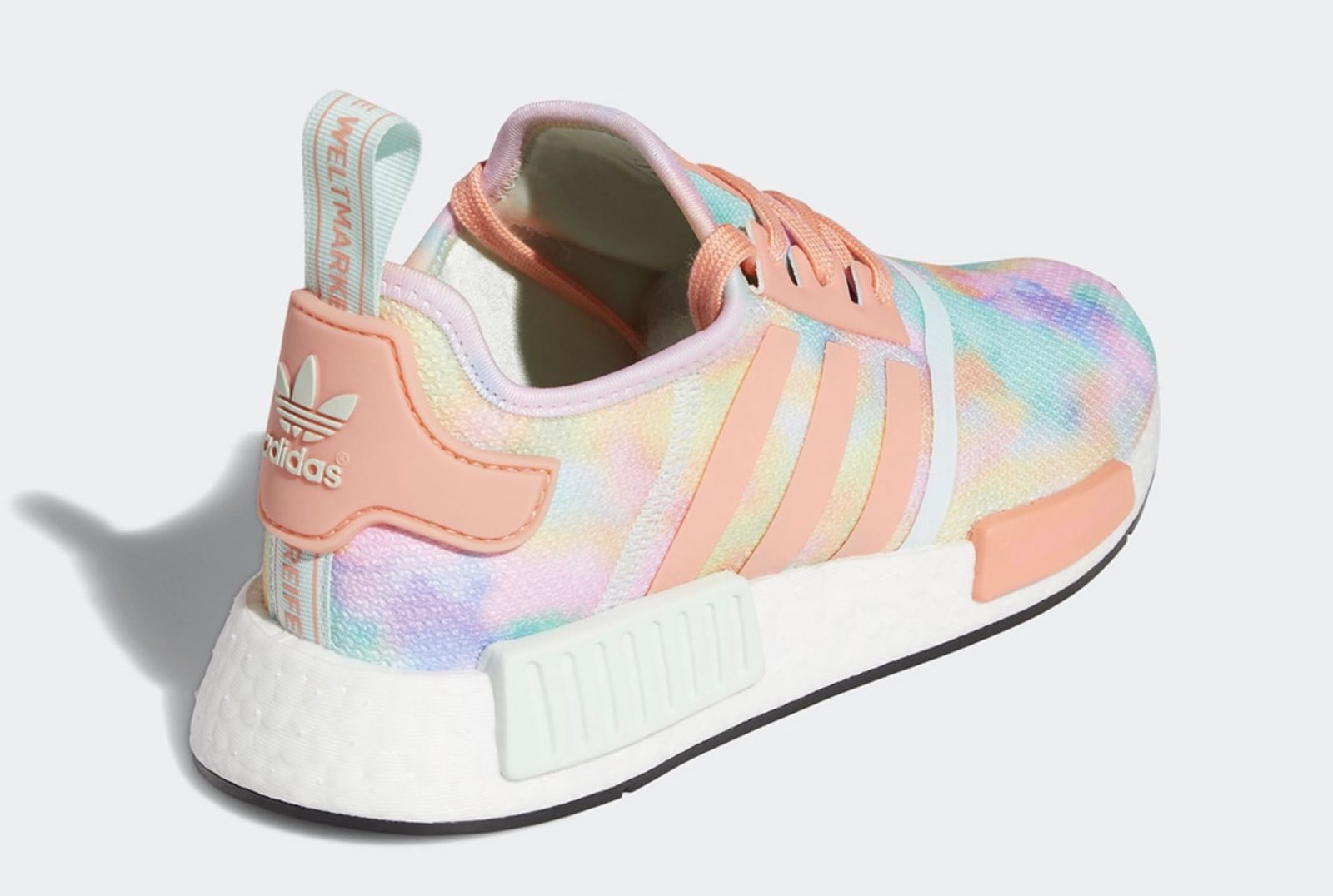 Get Colourful In The Tie-Dyed Upcoming adidas NMD R1 'Easter' heel